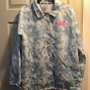 Pink Victoria's Secret rain jacket NWOT